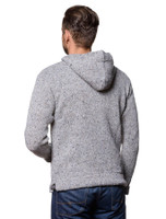 Pocket Detail of Men's Wool Hoodie with Pouch Pocket