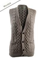 Women's V-Neck Waistcoat - Wicker