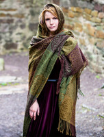 Irish Celtic Ruana Wrap - Fig