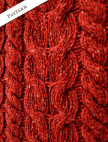 Pattern Detail of Wool Cashmere  Aran Cable Merino Sweater