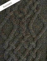Pattern Detail of Revere Button Collar Aran Cardigan