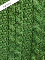 Aran Cable Poncho - Pattern Detail