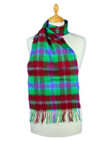Fine Merino Plaid Scarf - Kelly Green