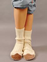 Adult Slipper Socks - Honey Oat