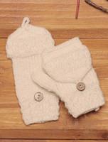 Kids' Fold-Back Aran Mittens