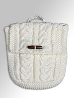 Kids Aran Satchel Bag - Natural White/One Size