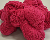 Aran Wool Knitting Hanks - Cerise