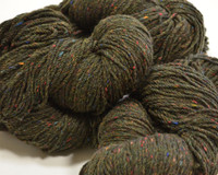 Aran Wool Knitting Hanks - Moss Green