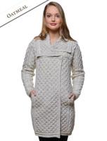 Two Tone Merino Wool Coat - Oatmeal