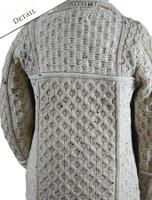 Back Detail of Two Tone Merino Wool Coat
