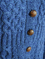 Merino Shawl Neck Cardigan - Detail