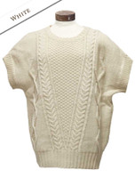 Oversized Aran Cable Sweater - Natural White