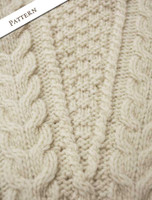 Pattern Detail of Oversized Aran Cable Sweater