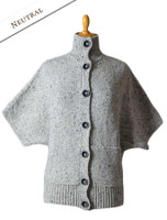 Women's Batwing Cable Cardigan - Neutral