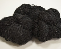 Aran Wool Knitting Hanks - Charcoal Fleck