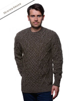 Aran Cabled Sweater- Fisherman Sweater - Hunter