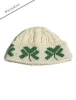 Merino Wool Shamrock Hat - Natural White
