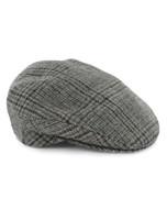 Trinity Tartan Flat Cap - Grey Check