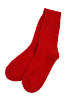 Connemara Merino Wool Walking Socks - Red