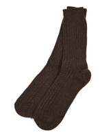 Connemara Merino Wool Walking Socks -Brown