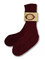 Wool Socks - Burgundy