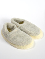 Merino Wool Slipper - Grey