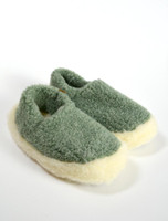 Merino Wool Slipper - Green