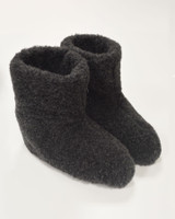 Merino Wool Booties - Charcoal