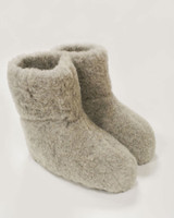 Merino Wool Booties - Grey