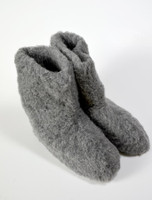 Merino Wool Booties - Graphite