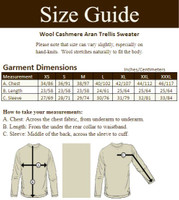 Wool Cashmere Aran Trellis Sweater