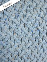 Pattern Detail of Wool Cashmere Aran Trellis Sweater