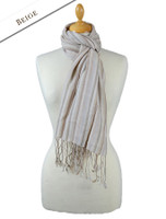 Striped Scarf - Beige