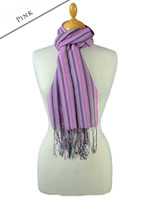 Striped Scarf - Pink