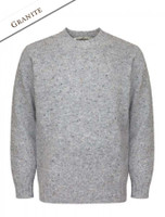 Plain Crew Neck Sweater - Granite