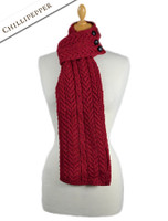 Aran Loop Scarf - Chillipepper