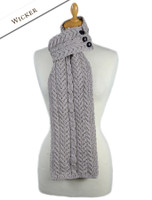 Aran Loop Scarf - Wicker