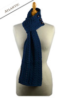 Aran Loop Scarf - Atlantic