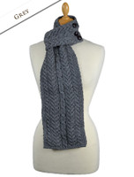 Aran Loop Scarf - Grey