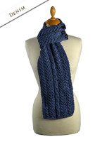Aran Loop Scarf - Denim