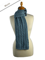 Aran Loop Scarf - Misty Blue