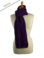 Aran Loop Scarf - Purple