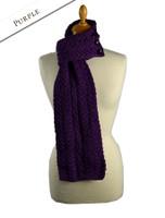 Aran Loop Scarf - Purple