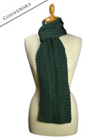 Aran Loop Scarf - Connemara Green