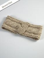Women's Aran Cable Headband - Honey Oat