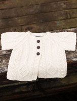 Baby/Toddler Aran Cardigan with Short Sleeves