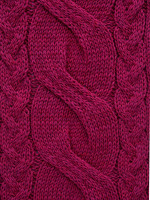 Chunky Cable Hat - Raspberry