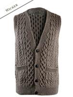 Men's V-Neck Waistcoat - Wicker