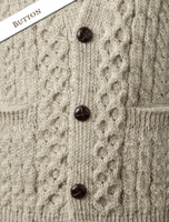 Button and Pattern Details of Men's V-Neck Waistcoat