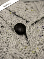 Button Detail of Shawl Collar Sweater - One Button Fisherman Sweater